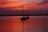 BOATS IN THE MORNING (R. D. SMITH) Tags: indianriver orange sky melbourneflorida morning dawn boat water florida river brevardcountyflorida canoneos7d