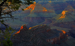 Grand Canyon : Almost sunset . . . (Clement Tang **busy**) Tags: usa arizona travel america landscape summerevening sidelit scenicsnotjustlandscapes geological feature coloradoriver cliffs hdr grandcanyon grandcanyonnationalpark nature closetonature concordians southrim nationalgeographic