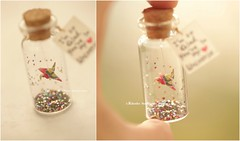"""I""""m so glad you're in my universe,Tiny message in a bottle,Miniatures,Personalised Gift,love,Valentine Card,Gift for her/him,Girlfriend gift, birthday card, holiday card and miniatures card ideas (charles fukuyama) Tags: 千代紙 chiyogamipaper japanstyle japanesehandmade handmadecard greetingscard unique seasonalcard paperart homedecor deskdecor decoration anniversarycard valentineday messagecard kikuike"""
