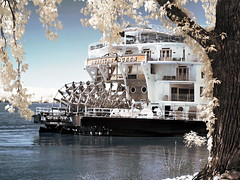 American Queen steamboat (hitnmissengines) Tags: steam ship cruise infrared ir memphis riverboat