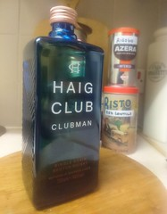 Had a couple of shots of this earlier on (boysnips) Tags: haigclubclubman singlegrainscotchwhisky whisky scotch alcoholicdrink expensive bottle bluebottle veryspecial bisto azera tins