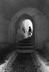(cherco) Tags: geometry greece santorini woman down street stairs escaleras light architecture arquitectura arch arco blackandwhite blancoynegro lonely loner alone moment monochrome composition composicion city canon canoneos5diii 5d
