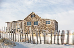 Judge's Shack (arlene sopranzetti) Tags: judges shack ibsp nj beach sand dunes winter fence
