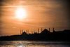 Stark understanding (Melissa Maples) Tags: istanbul turkey türkiye asia 土耳其 nikon d3300 ニコン 尼康 nikkor afs 18200mm f3556g 18200mmf3556g vr üsküdar boğaz sea bosphorus water silhouette mosques black orange evening dusk sundown sunset strait