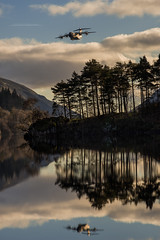 What's that Noise! (Squareburn) Tags: thirlmere lakedistrict reflections trees cumbria plane