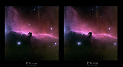 Hubble Horsehead nebula - my rendering, crosseye vision (Pamaxteam) Tags: hubble nebula horsehead sky nightsky telescope 3d crosseye anaglyph