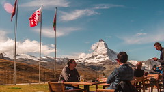 Lunch in the Alps (IRRphotography) Tags: timelapse video clouds switzerland swiss lunch matterhorn zermatt nature overlook mountain mountains gopro