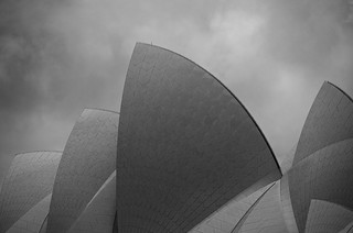 Opera House on a Cloudy Day