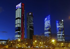 Madrid, Cuatro Torres Business Area (joseange) Tags: madrid areabusiness ngc night