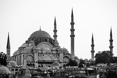 minarets (eb78) Tags: turkey istanbul blackandwhite monochrome greyscale grayscale bw travelphotography newmosque minarets fatih architecture explore