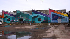 Northern Lights Liverpool 8 (TERRY KEARNEY) Tags: architecture buildingsarchitecture building buildings buildingstructure reflections water canoneos1dmarkiv daylight day warehouse explore europe england flickr kearney skyline landscape liverpool merseyside oneterry outdoor people terrykearney urban 2018 northernlightsliverpool road sky