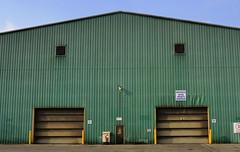 Symmetry - Dofasco warehouse façade, Hamilton, Ontario (edk7) Tags: nikond300 edk7 2011 canada ontario hamilton architecture building structure city cityscape urban industrial corrugatedsheetsteelcladding symmetry dofascocapitalprojectswarehouse
