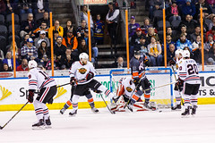 """Kansas City Mavericks vs. Indy Fuel, February 17, 2018, Silverstein Eye Centers Arena, Independence, Missouri.  Photo: © John Howe / Howe Creative Photography, all rights reserved 2018 • <a style=""""font-size:0.8em;"""" href=""""http://www.flickr.com/photos/134016632@N02/39490832825/"""" target=""""_blank"""">View on Flickr</a>"""
