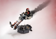LSB2018 - Red Wolf's lethal chopper (Faber Mandragore) Tags: lego moc speeder district18 district 18 rebel criminal gang lsb faber mandragore fabermandragore