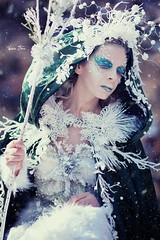 "TEATRONATURA ""The pathway of the crystals"" (valeriafoglia) Tags: model makeup magic art atmosphere white wood winter spirit stylist snow beautiful beauty creature capture composition crystals creative colors photography photo portrait pretty outfit nature fantasy fairy forest"