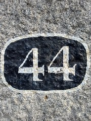 44 (2) (Bobfantastic) Tags: aberdeen scotland uk city urban granite numbers paint font texture decay historical preservation