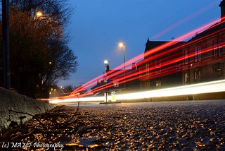 Light trails in Morley