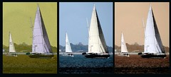 Experiments - Yachts (2) (Padski1945) Tags: boats boatsboardsandsail artinfluenced sails sail experiments yachts yacht triptych