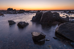St. Clements bay, Jersey - 25th Feb 2018 (Tim_Horsfall) Tags: beach sea seaside sunset water ocean rocks sky island jersey fujifilm xt2 samyang 12mm sand seascape landscape