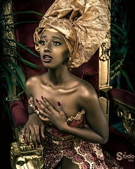 """A moment from her majesty' life: when she sees the sorrow of this world from her throne""😊😊 (denis.dolgopolov) Tags: blackwomenpower mood africanqueen anawesomeshot"