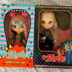 Dolls in boxes...