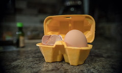 two-seater (60/365) (severalsnakes) Tags: hellofresh kansas kansascity m2828 pentax saraspaedy cooking cracked egg eggs ingredients k1 kitchen manual manualfocus shell