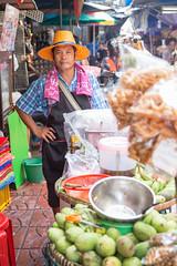 Thai Man in Bangkok market (Tiziana de Martino) Tags: man worker thailand thai people travel travelling world around culture trip places visit