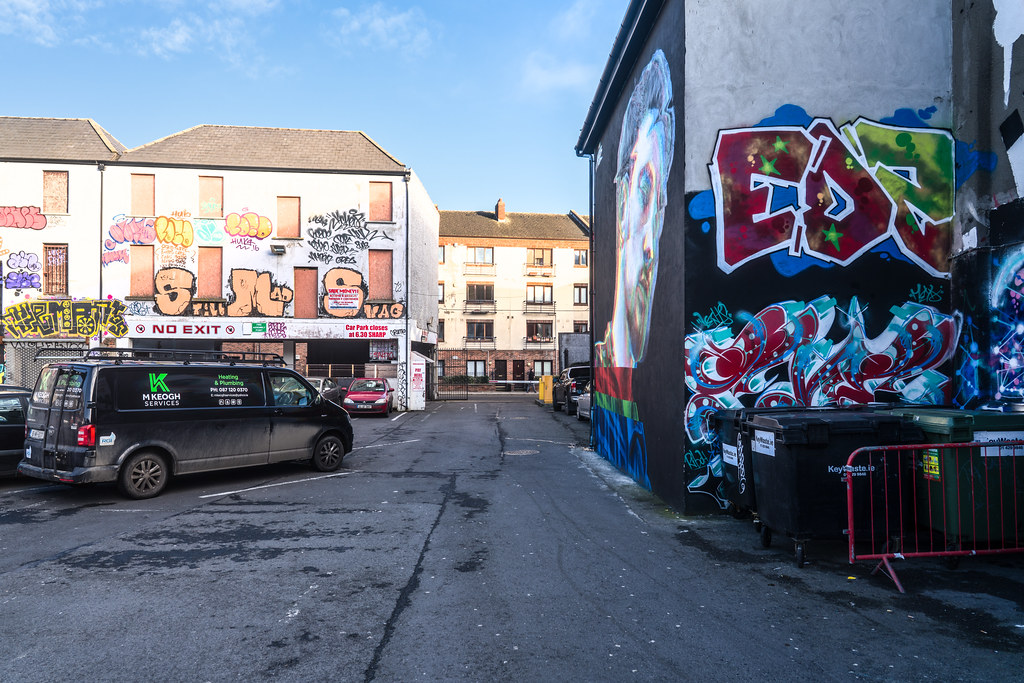 STREET ART AT THE TIVOLI CAR PARK IN DUBLIN [LAST CHANCE BEFORE THE SITE IS REDEVELOPED]-135648