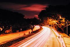Holland Road (OzGFK) Tags: 35mm asia fuji hollandvillage nikkor nikon singapore velvia analog crossprocessed film night xpro hollandroad clouds longexposure lighttrails lightinmotion urban streetphotography