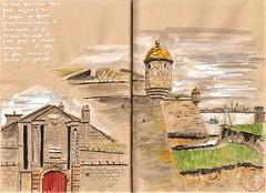 Port-Louis la citadelle (bigoudene46) Tags: portlouis paysdelorient bretagne citadelle remparts dessinsurlevif usk urbansketcher carnettiste carnetdevie bigoudene46
