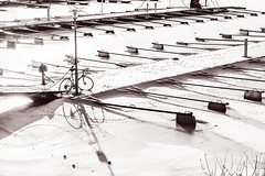 No Boats, Just A Bike (pni) Tags: pier bike bicycle shadow snow ice winter cold helsinki helsingfors finland suomi pekkanikrus skrubu pni