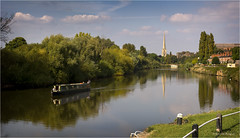 The Severn (brianac37) Tags: river riversevern worcestershire worcester diglis barge narrowboat