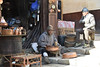 Making Copper Vessels in the Souk, Fes (meg21210) Tags: morocco souk fes metalware vendor medina copper feselbali pots plates lamps containers