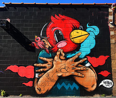 Bird Sign by SentRock (wiredforlego) Tags: graffiti mural streetart urbanart aerosolart publicart chicago illinois ord sentrock