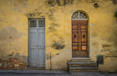 Number 44.jpg (Darren Berg) Tags: yellow decay door portal 44 stairs italy simple brick texture house home old explore explored