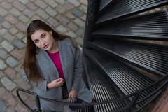 Should I stay or should I go? (piotr_szymanek) Tags: marcelina portrait outdoor woman face eyesoncamera girl skinny hand 5k 10k 50f 1k 20f 20k marcelinab 30k fromabove pink 40k