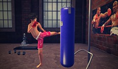 Young boxer | Mike McGraw (mikebastlir) Tags: young boxer mike tyson secondlife virtual world training boxing gym sport boy boys childhood bullied gloves punching punch dumbbells fight
