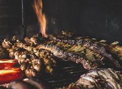 Meat on fire. (Pablin79) Tags: asado carne argentina posadas misiones asadoargentino fire meat embers closeup food colors light lunch cooking grill outdoors hot smoke