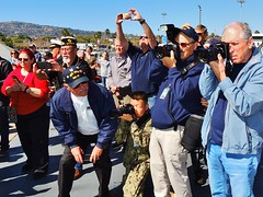 75th birthday and return of ship's bell (Konabish ~ Greg Bishop) Tags: 75thbirthdayofbattleshipiowa bb61 ussiowa pacificbattleshipcenter portoflosangeles sanpedrocalifornia southerncalifornia warship gregbishopbattleshipiowavolunteershipsphotographer