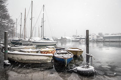 Icy Penryn River (Andrew Hocking Photography) Tags: penryn river cornwall snow 2018 beastfromtheeast stormemma water freezing ice icy frozen boats mooring winter landscape kernow yachts weather colour