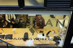 Saville Row at work (jonfholl) Tags: tailoring workroom bespoke