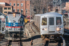 A SIRT Summary (Nick Gagliardi) Tags: train trains railroad staten island railway sirt sir mta metropolitan transit authority new york city ny nyc electric r44 me2 mue2 diesel brookville mow maintenance way bl20g work engine clifton