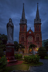 Notre-Dame Cathedral Basilica of Saigon (Ed Kruger) Tags: 2017 allrightsreserved asia asiancities asiancountries cultureofasia edkruger millakruger notredamecathedralbasilicaofsaigon octover peopleofasia photosofasia southeastasia abaconda asian asians blue buildings church city cityscene cityscape clouds copyrights hochiminh hochiminhcity kirillkruger night qfse rodkruger saigon sky street sun travel travelphotography vietnam windows hồchíminh vn
