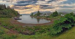 Peaceful Scotland (PLADIR) Tags: wolken sonnenuntergang sunset clouds schottland scotland wasser water outdoor panorama