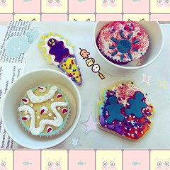 🍰🍰Cute Biscuits🍰🍰 (ricardopardie123) Tags: sweet biscuit candy color white blue gingerbread heart love cup red pink ball sun yellow diy bread