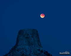 Red White and Blue (kevin-palmer) Tags: devilstower devilstowernationalmonument wyoming nikond750 january winter snow snowy cold nikon180mmf28 telephoto fullmoon moon supermoon bluemoon lunareclipse totality red astronomy astrophotography night sky blue twilight stars starry bloodmoon 2018 early morning snowfall astrometrydotnet:id=nova2422452 astrometrydotnet:status=solved