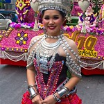 Thai People in Traditional Dress Waiting to Join the Chiang Mai Flower Festival Parade 157 thumbnail