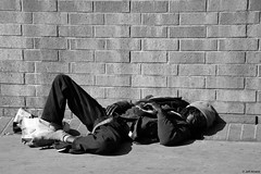"Street Life! (Wildlife_Biologist) Tags: ""skidrow"" homeless person humanbeing human homosapiens man father jeffahrens wildlifebiologist street streetphotography hardlife sleeping concrete skidrow escape transient losangeles streetphoto streetlife monochrome bw blackandwhite"