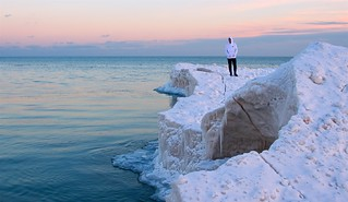 Lakeshore Ice Formations