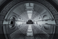 Tunnel Vision (Andrew G Robertson) Tags: london museum va victoria albert canon1124mm 11mm ultra wide angle reflection geometry symmetry kensington scifi